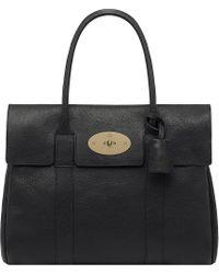 Mulberry Bayswater Natural Leather Handbag Black - Lyst