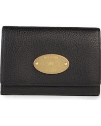 Mulberry Natural Leather French Purse Black - Lyst