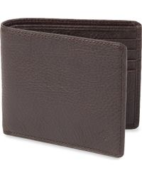 Mulberry Embossed Billfold Wallet Brown - Lyst
