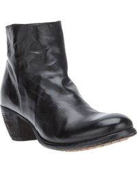 Officine Creative Cuban Heel Ankle Boot - Lyst