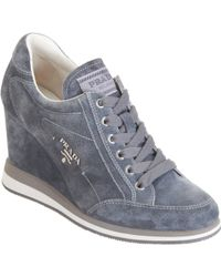 Prada Linea Rossa Low Top Wedge Sneaker - Lyst