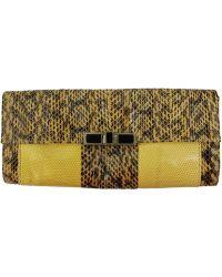 R & Y Augousti | Shagreen Snake Windowpane Clutch | Lyst