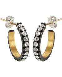 Yossi Harari Extra Small Lilah Diamond Hoop Earrings - Lyst