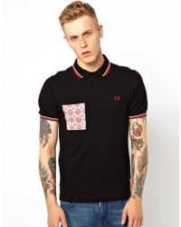 Fred Perry Pac Man Pocket Polo - Lyst