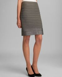 Halston Heritage Tailored Pencil Skirt Contrast Stripe - Lyst