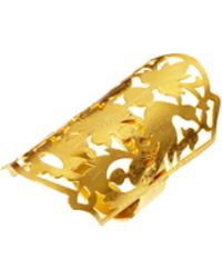Kasturjewels 22ct Gold Plated Adjustable Hand Crafted Finger Ring - Metallic