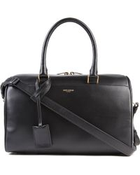 Saint Laurent Small Leather Duffel Bag - Lyst