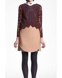 Carven Double Crepe Skirt - Lyst