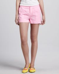 C&C California - Relaxed Twill Shorts Pink - Lyst
