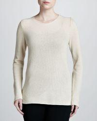 Michael Kors Biasknit Cashmere Sweater Ivory - Lyst