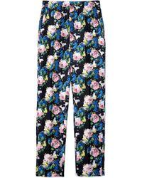 MSGM Floral Print Trouser - Lyst
