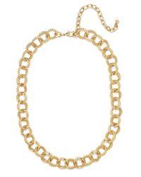 BaubleBar - Gold Rope Link Necklace - Lyst