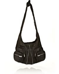 Alexander Wang Donna In Washed Black With Nickel - Lyst