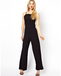 AQ/AQ Divine Jumpsuit With High Neck And Wide Leg - Lyst