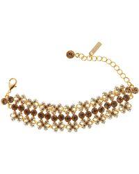 Gemini - Gold Bracelet with Swarovski Crystals - Lyst