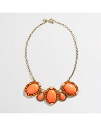 J.Crew Factory Crystal Brooch Necklace - Lyst