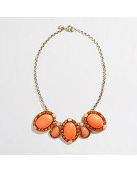 J.Crew Factory Crystal Brooch Necklace - Lyst