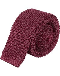 Lanvin - Burgundy Square End Knitted Tie - Lyst