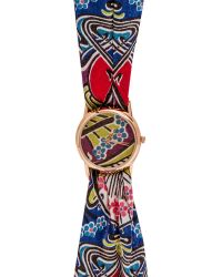 Liberty - Large Ianthe Print Rose Knot Watch - Lyst