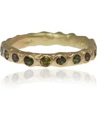 Ruth Tomlinson - Gold and Tourmaline Eternity Ring - Lyst