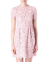 Valentino Lace Babydoll Dress - Lyst