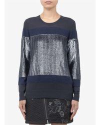 3.1 Phillip Lim Sequinedpanel Merino Wool Pullover - Lyst