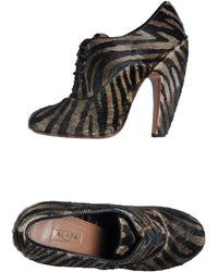 Alaïa Black Laced Shoes - Lyst