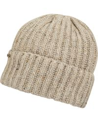 Barbour - Grey Tyne Fleck Woolblend Beanie Hat - Lyst