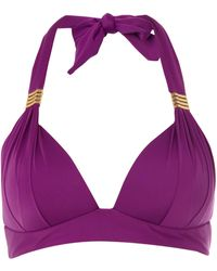 Biba Goddess Moulded Halter Bikini Top - Lyst