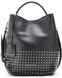 Burberry Brit - Susanna Leather Hobo Bag with Studs - Lyst