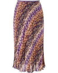 Cc Chocolatepurple Chevron Crinkle Skirt - Lyst