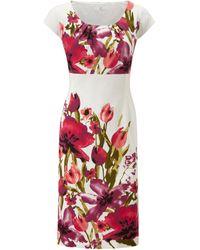 Cc Multicoloured Floral Print Dress - Lyst