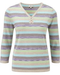 Cc Multicoloured Striped Ombre Jumper - Lyst