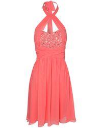 Jane Norman Embellished Cross Over Prom Dress - Lyst