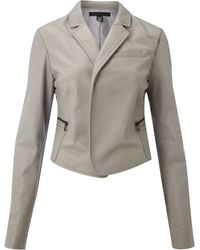 Kenneth Cole Leather Exposed Zip Jacket - Lyst