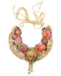 Krista R Bohemian Necklace with Painted Cameo - Lyst