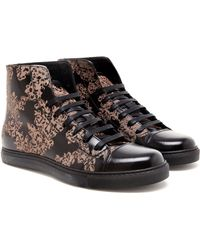 Marc Jacobs - Floral Print Leather Baseball Boots - Lyst