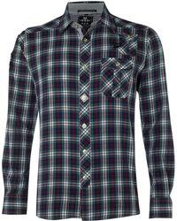 Nza - Brushed Tartan Shirt - Lyst