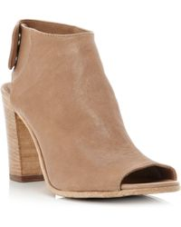 Pied a Terre | Lindt Covered Peeptoe Sandals | Lyst