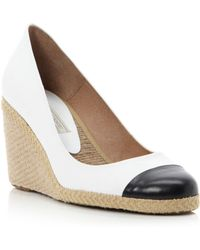 Pied A Terre Agape Toe Cap Espadrille Wedge Shoes - Lyst