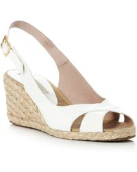 Pied A Terre Lata Cross Vamp Slingback Wedge Shoes - Lyst