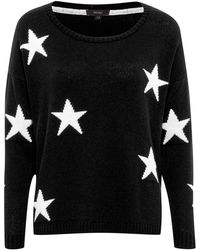 Therapy Star Placement Print Knit Jumper black - Lyst