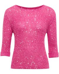Therapy Sparkle Sequin Fine Knit Jumper - Lyst