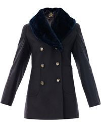 Vivienne Westwood Anglomania - Soma Doublebreasted Peacoat - Lyst