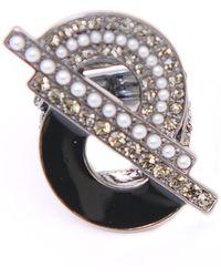 Ziba - Onyx Art Deco Ring - Lyst