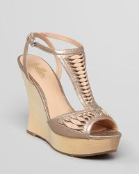 Belle By Sigerson Morrison - Platform Wedge Sandals Berry - Lyst
