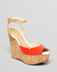 Juicy Couture - Peep Toe Platform Wedge Sandals Dafne - Lyst