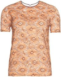 Mulberry Floral Lace Overlay Top - Lyst