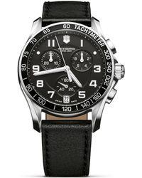 Victorinox - 241493 Men's Infantry Chronograph Leather Strap Watch - Lyst