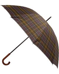 Barbour - Navy Tartan Golf Umbrella - Lyst